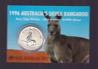 1996 1oz .999 Silver Coin $1 Kangaroo UNC Australia one ounce