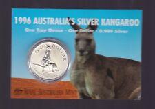 1996 1oz .999 Silver Coin $1 Kangaroo UNC Australia one ounce *-