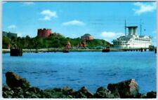 CARACAS BAY, CURACAO  ~  Fort Beekenburg CRUISE SHIP 1970    Postcard