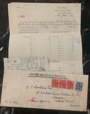 1931 Tortola British Virgin Island OHMS Majesty Service Cover To Rangoon Burma