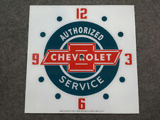 "*NEW* 15"" CHEVY CHEVROLET CARS CHEVY GM GMC GLASS replacement clock FACE PAM"
