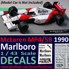 Formula 1 Car Collection MARLBORO DECALS McLaren 1990 MP4/5B Senna 1:43 scale