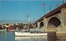 ARIZONA LAKE HAVASU TOURS BOAT AT LONDON BRIDGE POSTCARD c1970s