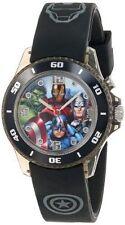 Marvel The Avengers Kids' AVG3508 Analog Display Analog Quartz Black Watch