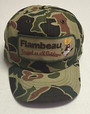 Vtg Flambeau Trucker Hat Rugged as All Outdoors Deer Duck Med Large Hunting Camo