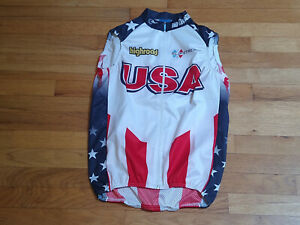 USA National Team Cycling Wind Vest by Bioracer of Belgium Medium