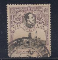 ESPAÑA (1920) USADO SPAIN - EDIFIL 308 (4 pts) ALFONSO XIII CONGRESO UPU LOTE 1