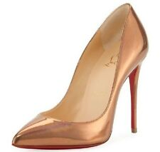 NIB Christian Louboutin PIGALLE FOLLIES 100 Pump Shoe Metallic Gold Patent 39 9