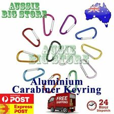Carabiner Clip Key Ring Holder Chain Cable Hiking Hook Lock Camping D Shape N