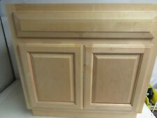 "Bathroom Vanity Base 30""W X 30""H X 21""D Cabinet Solid Wood Birch*No Top*"