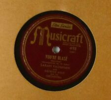 """10"""" Schellack - Sarah Vaughan with Georgie Auld - A Hundred Year /  - A176"""