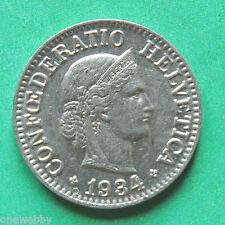 1934 Switzerland 10 Rappen GEF SNo22750