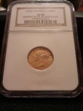 RARE GOLD COIN 1875S  Australian Half Sovereign Victoria Young Head  AU50 NGC