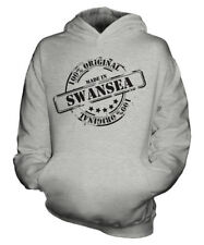 MADE IN SWANSEA UNISEX KIDS HOODIE BOYS GIRLS CHILDREN TODDLER GIFT CHRISTMAS