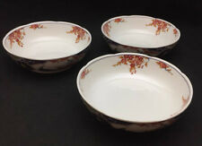 Imari Style Porcelain Bowls (set of 3) with peacocks and floral art