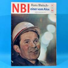 DDR NBI 21 1968 Täve Schur Alextunnel Artisten Bonn Mexiko DAMW Die Schmiere R