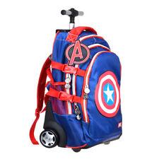 Marvel Captain America Shield 2 Wheels Backpack Rolling School Bag Trolley Bags
