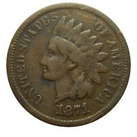Indian head cent/penny 1871 mid grade circulated