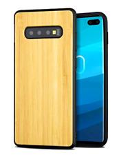 Samsung Galaxy S10 Plus Wood Case Bamboo Shock Drop Impact Proof Handmade Back