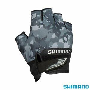 SHIMANO 3D Advance Fishing Glove 5 GL-022S Black Weed Camo UV cut Japan NEW