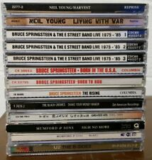 Lot of 13 Rock Cd's: Bruce Springsteen Neil Young Black Crowes Mumford & Sons U2