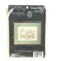 Cross Stitch Kit - Janlynn - Endangered Young'uns - ELEPHANT - 14 Ct - Vtg 1992