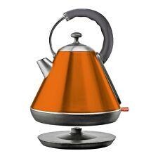 1.8L Orange SQPro Cordless Electric Kettle 2200W Rapid Boil Washable Filter