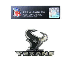 Promark New NFL Houston Texans Plastic Chrome 3-D Auto Emblem Sticker Decal