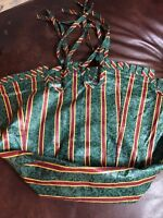 Longaberger 1995 Christmas Cranberry Basket Liner - Imperial Stripe Paisley NEW