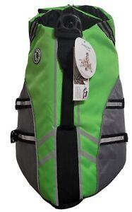 Vivaglory Dog Life Jacket Lrg Green Pet Water Coat Adjustable Dog Life Jacket