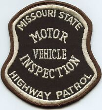 MISSOURI MO STATE HIGHWAY PATROL Motor Vehicle Inspection POLICE PATCH