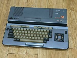 Philips VG-8235 MSX2 Computer (like Sony) Vintage - Powers On - Untested