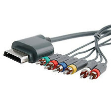 HD TV Component Composite Audio Video AV RCA Cable Cord for Microsoft Xbox 360