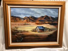 """Original Oil on Canvas """"HIGH DESERT"""" by the Late Geneve """"GENNY"""" Ryan 18 x 24"""