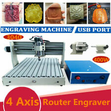 4axis 15kw Usb 3040 Vfd Cnc Router Engraver Metal Engraving Drill Mill Machine