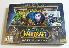 WORLD OF WARCRAFT BATTLE CHEST Original Blizzard Computer Game COMPLETE PC GAMES