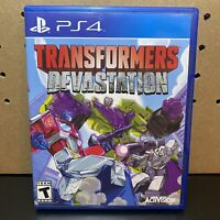 Transformers Devastation (PlayStation 4,PS4) Tested, Scratch Free Disc-Free Ship