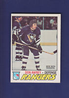 Don Awrey 1977-78 O-PEE-CHEE Hockey #137 (EXMT+) New York Rangers