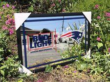 Bud Light Nfl New England Patriots Football Beer Bar Mirror Man Cave Pub New