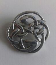 Solid Sterling Silver Chuncky Celtic Brooch