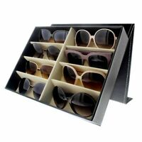 8 Slot Glasses Display Case Rack Storage Tray for Sunglasses, Eyeglasses, Black