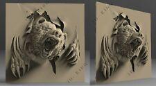 3D STL Model ANGRY BEAR for CNC Router Aspire Artcam 3D Printer Carving Engraver