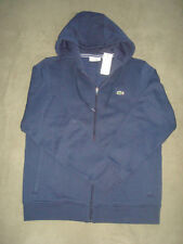 LACOSTE NAVY BLUE ZIPPER FRONT HOODIE SIZE M