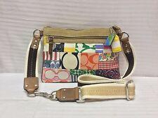 Coach Monogram Shoulder Bag 2 Key Charms