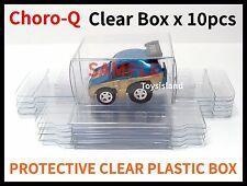 CHORO-Q PROTECTIVE CLEAR PLASTIC BOX 10 PCS 5.5x4x3cm CAR NEW TOMICA TOMY