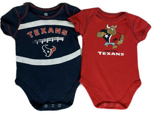 NFL Houston Texans Football Infant 6-9 Month Romper Body Suit Snap Marked Label