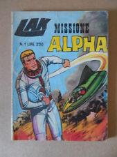 LAK Missione Alpha n°1 1970 ed. SEPER   [G461] BUONO