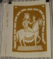 "GOCKEN JOBS Hand-Printed ""Caritas"" Print 39 x 32 cm 1956 Linen Textile Art"