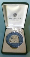 Wedgwood England Jasperware 1759 Christmas Ornament Blue Kids Sleigh