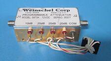 Weinschel Corp 5873A Programmable Attenuator 12Vdc 70dB Dc-4Ghz